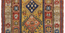 kazak antique carpet
