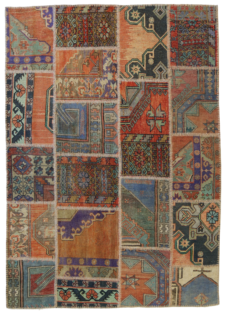 patchwork anatolian carpet