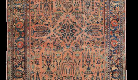 kashan persian carpet