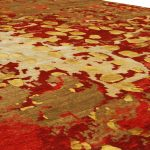 Modern Carpet Tibet Collection: Blooming of Golden flowers to Get Worm Your Living Room